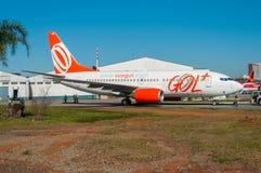 Gol Linhas Aereas波音737 免版税图库摄影