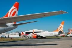 Gol Linhas Aereas波音737 库存照片