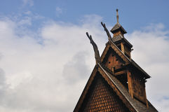Gol stave church in Folks museum Oslo Royalty Free Stock Photos