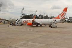 Gol/Varig flygbolag på den internationella flygplatsen av Maceio - Zumbi Royaltyfri Bild