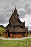 Gol, wooden church in Norway Stock Photography