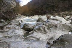 Gola del fiume Fotografie Stock Libere da Diritti