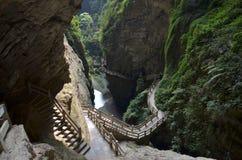 Gola della fenditura del krast di Longshui Fotografie Stock Libere da Diritti