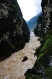 Gola della HU Tiao (tigre che salta) Fotografie Stock Libere da Diritti