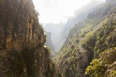Gola delle cure del fiume in Asturie immagini stock libere da diritti
