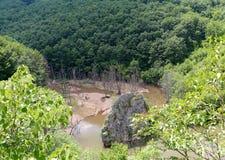 Gola di Erma River, Tran, Bulgaria Fotografia Stock Libera da Diritti