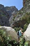 Gola Di Gorropu Trekking Στοκ Φωτογραφία
