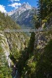 Gola di Leutasch nelle alpi tedesche Immagine Stock