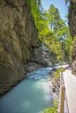 Gola di Leutasch nelle alpi tedesche, Baviera Immagini Stock Libere da Diritti