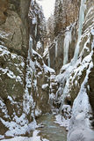 Gola di Partnach - di Partnachklamm vicino a Garmisch-Partenkirchen bavaria germany fotografie stock libere da diritti