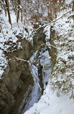 Gola di Partnach - di Partnachklamm vicino a Garmisch-Partenkirchen bavaria germany immagini stock
