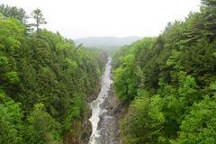 Gola di Quechee, Vermont, U.S.A. Fotografie Stock Libere da Diritti