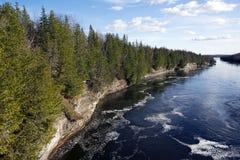 Gola di Ranney - Trent Severn River System, Ontario Immagine Stock