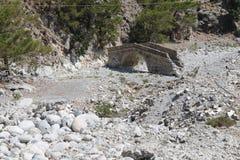 Gola di Samaria, Creta Fotografie Stock