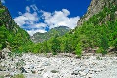 Gola di Samaria. La Grecia, Crete, montagne bianche Immagine Stock Libera da Diritti