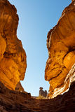 Gola di Tashwinet, montagne di Akakus, Sahara, Libia Immagini Stock