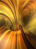 Gola dorata del traforo di velocità Fotografie Stock
