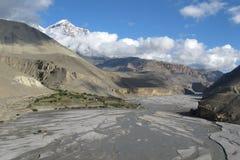 Gola e fiume di Kali Gandaki fotografia stock libera da diritti