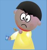 Gola irritata Immagini Stock