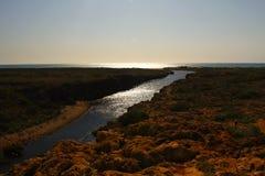 Gola nel parco nazionale della gamma del capo, Ningaloo dell'insenatura del Yardie. Ri Immagine Stock