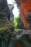Gola nelle cadute di Trummelbach del cantone Svizzera di Berna della valle di Lauterbrunnen Fotografia Stock
