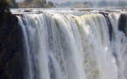 Gola principale orizzontale in Victoria Falls Fotografia Stock
