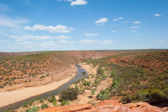 Gola scenica Australia di Kalbarri Immagine Stock Libera da Diritti
