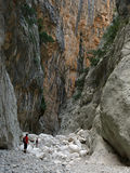 Gola Su Gorropu峡谷,撒丁岛 免版税库存照片