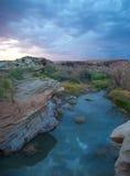 Gola verniciata del fiume Fotografia Stock Libera da Diritti