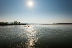Golaghat confluence of Rapti and Narayani rivers Royalty Free Stock Photography
