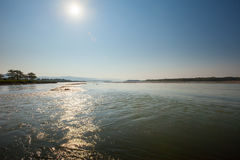 Golaghat confluence of Rapti and Narayani rivers Stock Photography
