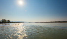 Golaghat confluence of Rapti and Narayani rivers Royalty Free Stock Image