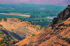 Golan Height. View From Golan Height, Israel, To Jordan Valley Stock Photo