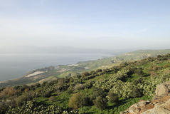 Golan Heights. View of the Sea of Galilee from the Golan Heights in Israel Royalty Free Stock Photography