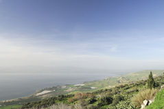 Golan Heights. View of the Sea of Galilee from the Golan Heights in Israel Royalty Free Stock Images