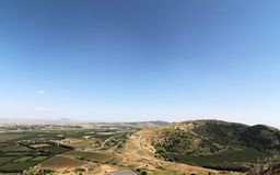 The Golan Heights. On Golan Heights, view of Damascus Royalty Free Stock Photo
