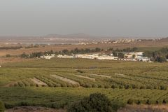 Golan Heights border in Israel royalty free stock photo
