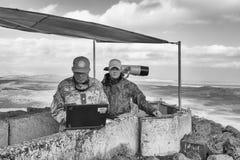 Golan Heights, Israel, el 22 de diciembre de 2016: La fuerza de paz de la O.N.U Imágenes de archivo libres de regalías