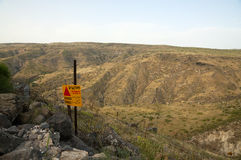 Golan Heights and Mines field Royalty Free Stock Images