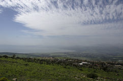 Golan heights and sea galilee Royalty Free Stock Image