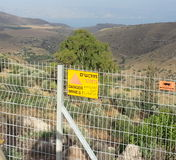 Golan Heights view of sea of Galilee Stock Image