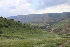 Golan Heights von Jordanien-Seite lizenzfreies stockbild