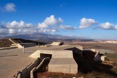 Golanhoogten landelijk landschap stock foto