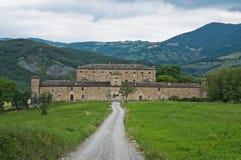 Golaso castle. Varsi. Stock Image