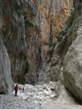 Golasu Gorropu kloof, Sardinige Royalty-vrije Stock Foto