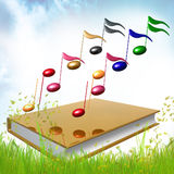 Golb book about musical symphony notes Royalty Free Stock Image