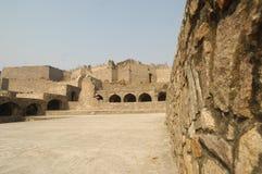 Golconda堡垒在海得拉巴印度 免版税库存照片