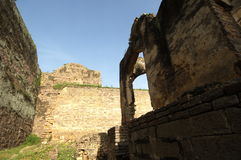 Golconda堡垒在海得拉巴印度 库存图片
