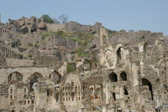 Golconda堡垒在海得拉巴印度 库存照片