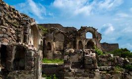 Golconda堡垒,海得拉巴-印度 免版税库存照片